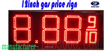 Outdoor big size gas price sign 8.889/10 12inch 4digits red led gas price sign(China)