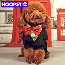 Super Stylish Pet Dog Suit with Red Bow Tie Fashion Gentleman Costume Clothes for Small Dogs Pet Goods Supplies