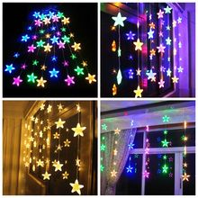 2.5M 13 LED Star String Lamp Multi Curtain Lights Holiday Wedding Home Decor
