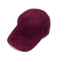 Adjustable Unisex Artificial Suede Baseball Cap Hat Curved Brim Hat Solid Color For Women/Man