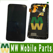 1PC /Lot High Quality  For Moto X2 XT1097 LCD Display + Touch Screen Digitizer with frame Black & White Color