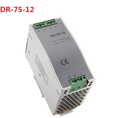 75w 12v 6.3a din rail model ce certificate 75w DR-75-12 switching power supply rail din 12v with wide range input high quality<br>