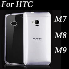 Super Flexible Clear TPU Case For HTC One M7 M8 M9 Crystal Back Protective Skin Rubber Phone Cover Silicone Gel Case