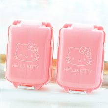 1Pcs New Pink Hello Kitty Pill Medicine Case Kit Jewelry Tablets Box Container Cosmetic Makeup Storage Box F0543(China)