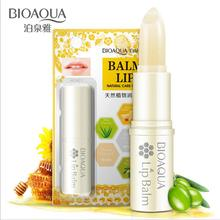 Honey Moisturizers Pure Natural Lip Balm BIOAQUA Lipblam Aloe Vitamin E Hyaluronic Acid Natural Care of Lips(China)