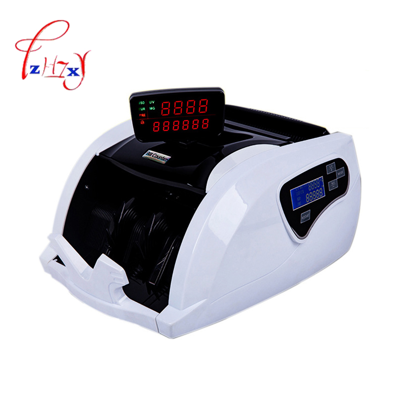 FT-2050 Money Counting Machine Currency counter Counterfeit Detector UV MG Cash Bank Detector LCD Display 110V 220V