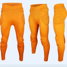 2017 Men Professional Soccer Goalkeeper Pant EVA Sponge Slim Skinny Football Goal Keeper Goalie Sports Training Leggings Pants(China)