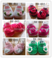 Crochet baby shoes infant knitted first walker Crochet baby shoes first walker loafers Baby shoes(China)