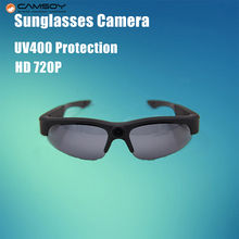 Glasses Camera 720P HD UV400 Protection Mini Camera Daily Waterproof Action Camera Light Weight Sunglasses Camera Mini Camcorder