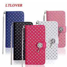 luxury chain Sky stars Rhinestone flip Leather Cover Coque Case For LG G2 D801 D802 G3 D830 D850 G5 H830 waller stand card slot