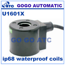 GOGO only coil for ip68 waterproof coils solenoid coil Lead type (underwater) U1601X 22VA/18W 24VDC 12V DC 220V AC 110V AC(China)