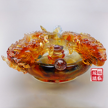 Opening housewarming gift business gift ideas Lucky ornaments decorations glass crafts aquarium entrance