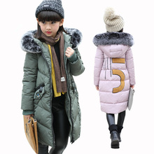Buy Teenagers Girls Jacket 2017 Winter Thick Cotton Padded Jacket Girls Outerwear Coat Children Long Parkas Jacket Kids Clothes for $24.62 in AliExpress store
