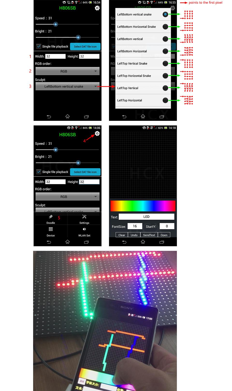 led wifi controller,1 port control 2048 pixels,DMX512 controller,support WS2812,DMX512,etc.Controlled by android phone via WLAN