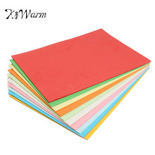 KiWarm 100Pcs 180gsm A4 Coloured Cardboard Paper For Scrapbook Greeting Cards Paper Craft Handicraft Children DIY Material(China)