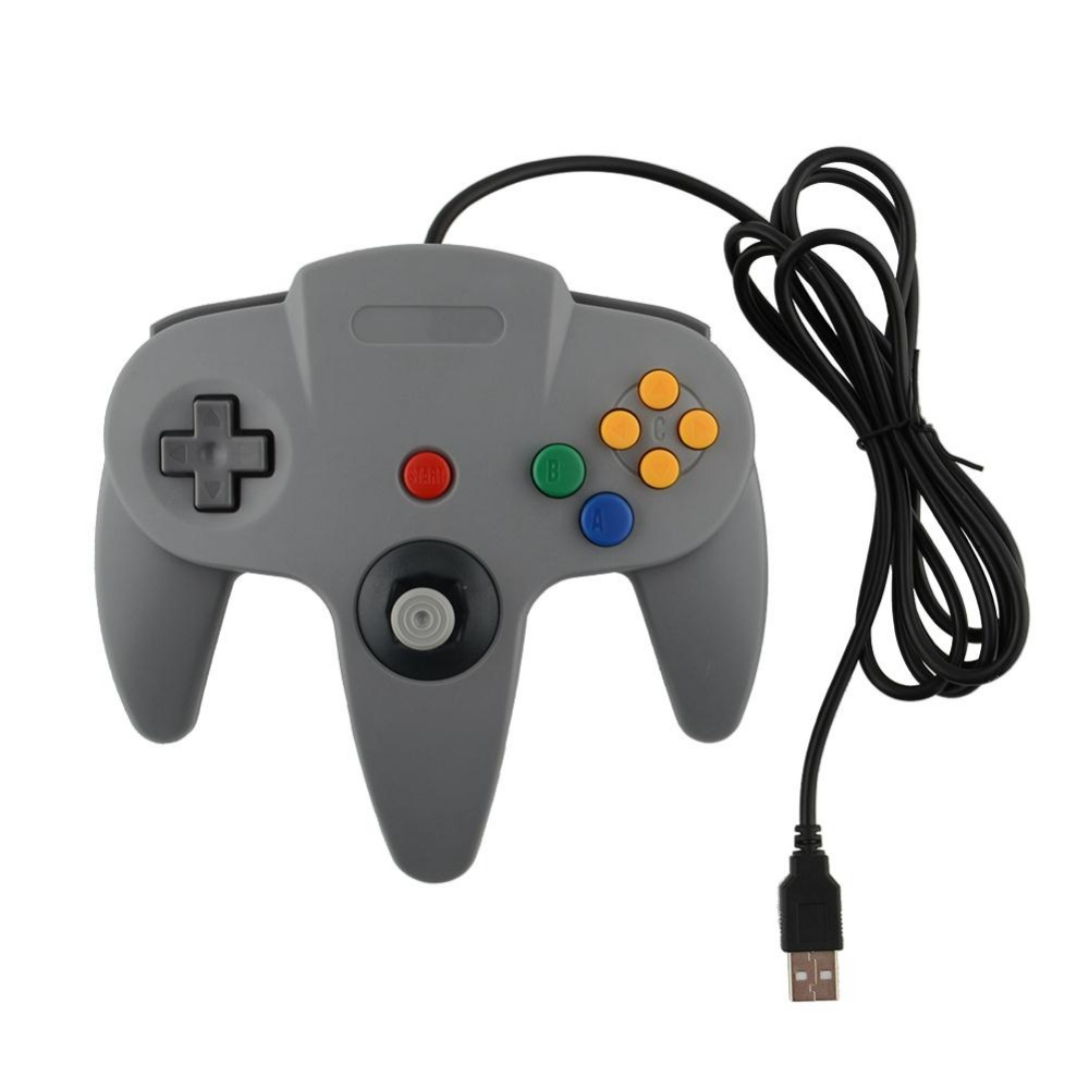 New USB Game Wired Controller Joypad Joystick Gamepad Gaming For Nintendo Gamecube for N64 64 Style PC Mac Grey(China (Mainland))