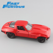 Brand 1:32 Scale FAST and FURIOUS Letty's CHEVY Corvette 1966 metal die cast model race cars auto styling gift toys for children