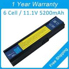 New 6 cell laptop battery for acer Aspire 3050 3030 3610 3200 3600 3680 5050 5570 5580 LC.BTP01.006 BT.00603.025 BATEFL50L6C40