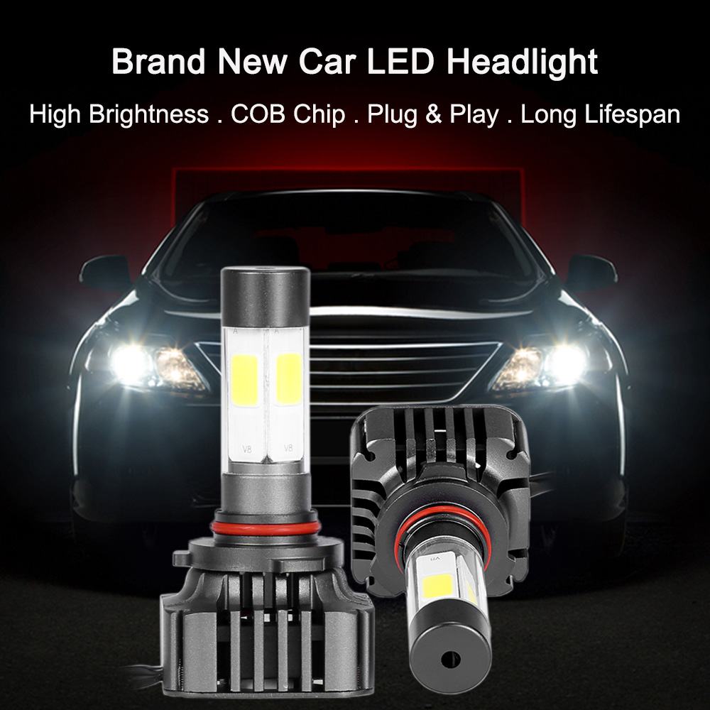 Car-styling LED Bar Headlight Fog Light Pair of 40W 9600LM COB All-In-One Low Power Replacement Bulb Kit Led Car for BMW Focus 2(China (Mainland))
