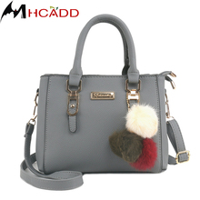 Buy MHCADD Fashion Women Hairball Ornaments Small Totes Leather Handbag Party Purse Ladies Black Messenger Crossbody Shoulder Bags for $14.63 in AliExpress store