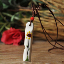 H:HYDE Nice Shipping Fashion Jewelry Ceramic Whistle Pendant Necklace porcelain jewelry For Women