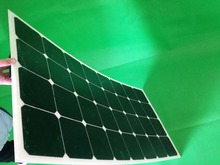 Strong adaptability, photosynthetic single crystal semi-flexible solar panels 100W to the battery chargeable flexible solar pane(China)