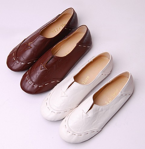 2015 brand Fashion Ballet Flats for Women Casual Genuine Leather Shoes Mary Jane Shoes Plus Size 35-43 Flats Shoes<br><br>Aliexpress