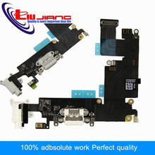 "Original Liujiang Charging Port connector dock Microphone Headphone jack Flex Cable for iPhone 6 Plus 5.5"" Replacement Parts"