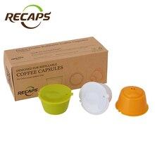 Составы команд 3 шт. многоразовые многоразового капсулы накладки для Nescafe Dolce Gusto Машин Чайник Кофе капсула Pod чашки Cafeteira(China)