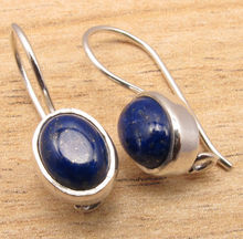 AAA FINE QUALITY JEWELRY EARRINGS , UnUSual LAPIS LAZULI !  Silver Plated