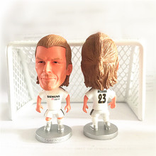 Soccerwe Round Base 23 David Beckham Doll ( RM 2005 Season ) White Kit(China)