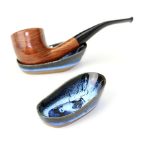 New Ceramic Pipe Holder Creative Smoking Pipe Stand Tobacco Pipe Holder Rack Smoking Accessory