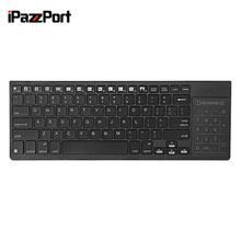 iPazzPort KP - 810 - 35BTT Bluetooth Multi-media with Colorful Backlight Keyboard with Touchpad Support Windows, iOS and Android(China)