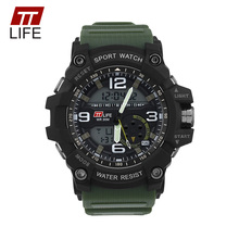 TTLIFE Men Sports Digital Military Watch Waterproof Swimming Running Casual G Style Clock Male Shock Resistant Wristwatch TS19(China)