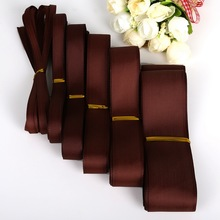 5Yards 7/10/15/20/25/38mm Brown Grosgrain Ribbons Packing Material DIY Crafts Decor Wedding Party Decoration Gift Wrapping(China)