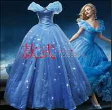 Custom Made New Design Adult Cinderella Costumes Women Halloween Party Dress Cosplay Costumes(China)