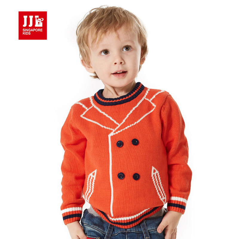 baby winter sweaters 100% cotton for boys and girls fashioneal round neck knitted sweaters tie pattern special design 2015 new<br><br>Aliexpress