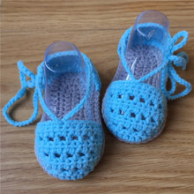 QYFLYXUE Hand-woven cotton baby shoes lace-up shoes Baby pictures photography prop shoes(China)