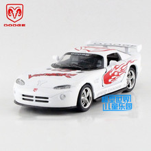 Free Shipping/1:36 Scale/Dodge Viper GTSR 1/Educational Model/Classical Pull back Diecast Metal toy car/For Collection or Gift