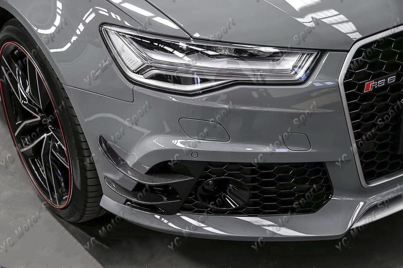 2013-2016 Audi A6 S6 RS6 RS6-Conversion Front Bumper ABT Style Canard CF (54)