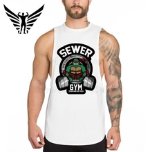 Muscleguys Sewer Gyms tank top 2017 summer Muscle mens tops weight lifting vest Workout mens singlets Bodybuilding tank