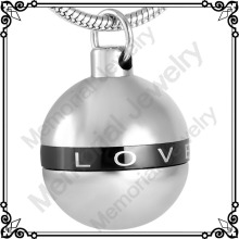 MJD8722 Men Women Forever Love American Round Ball Perfume Bottle Charm Memorial Cremation Jewelry Pendant Couple Necklace
