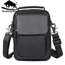 Buy DongFang Miracle New Genuine Leather Mini IPAD Bag top-handle Men Shoulder Crossbody Bags Messenger Small Flap Casual men Bag for $32.94 in AliExpress store