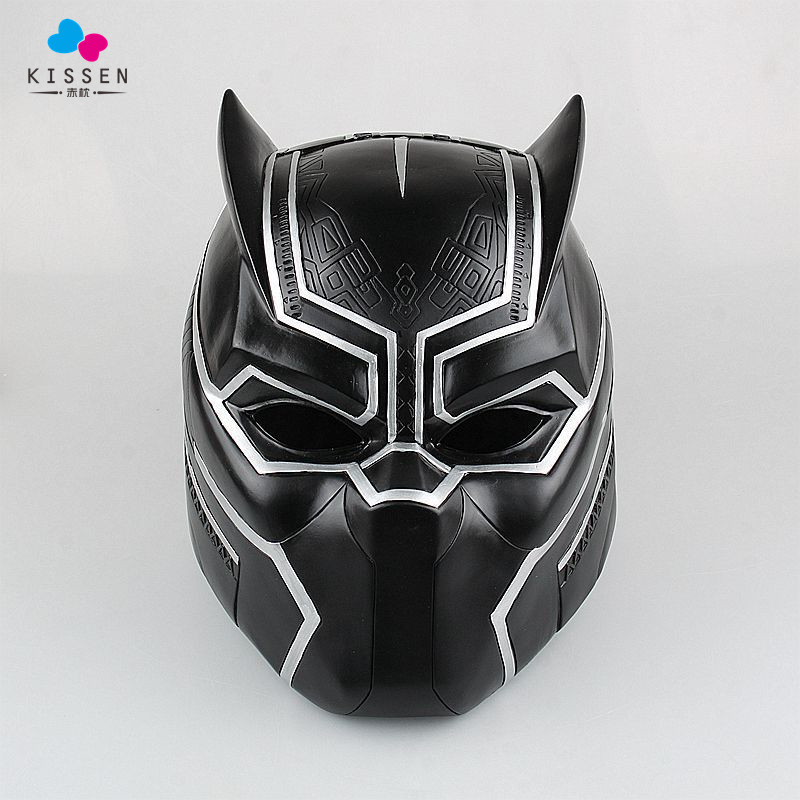 Kissen Captain America Civil War Black Panther Cosplay Helmet Black Panther Mask High Quality PVC Adult Men ask<br><br>Aliexpress