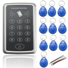 NEW 125KHz Door EM ID Card Access Control Keypad Weatherproof Design For Car Parking Security with 10 pieces RFID Key Fobs(China)