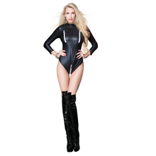 Buy Hot Sexy Women Bodysuit Short Rompers Bodysuit Sexy Lingerie Latex Pvc Jumpsuit Costume Women's Catsuit Pole Dance Clothes 2018