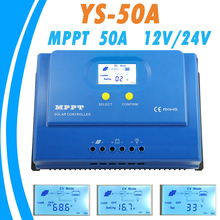 PowMr MPPT 50A Solar Controller 12V 24V Backlight LCD Display MPPT Solar Panel Controller for Max 150V Input Dual 5V USB Output