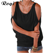 Rogi Sexy Off Shoulder Blouses Women Summer Short Sleeve Boho Beach Shirts Tee Femme Blusas Poleras Mujer Plus Size Ladies Tops