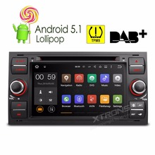 "7""Android 5.1 Lollipop 64-bit Operating System Quad Core Car DVD Player for Ford C-Max/Connect /Fiesta/Fusion/Galaxy/Focus/Kuga(China)"