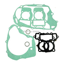 For Yamaha XV250 Motorcycle Rebuild Full Complete Engine Cylinder Top End Crankcase Clutch Cover Exhaust Pipe Gasket Kit Set